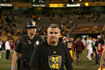 ASU coach Todd Graham didnt seem to appreciate the humor of the situation.