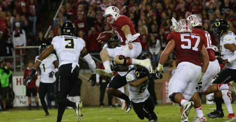 Stanford couldn't quite hurdle the Ducks, but will still play for a conference title.