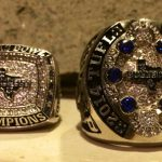 The Championship rings of the Texas Bullets who benefited from this site.