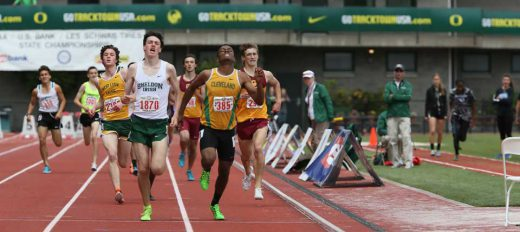 Mestler's amazing kick got him the victory last year in the 1500m.