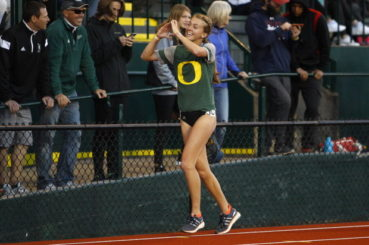 Katie Rainsberger had a resounding win during the 2016 Oregon Relays.