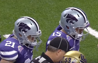 Stanford vs K State at the 2015 Alamo Bowl.