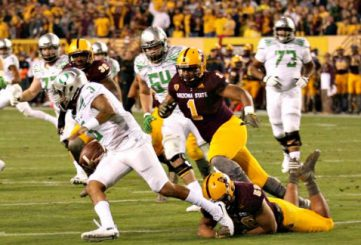 Vernon Adams makes another great escape.