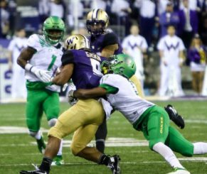 UW running back Myles Gaskin has gashed Rutgers and Idaho for a total of 127 yards.