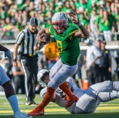 Dakota Prukop has provided mostly solid play, but has a short future as a Duck.