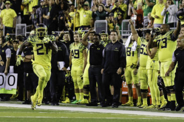 Royce Freeman has power and speed