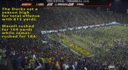 Oregon dominated USC in 2009 at Autzen.