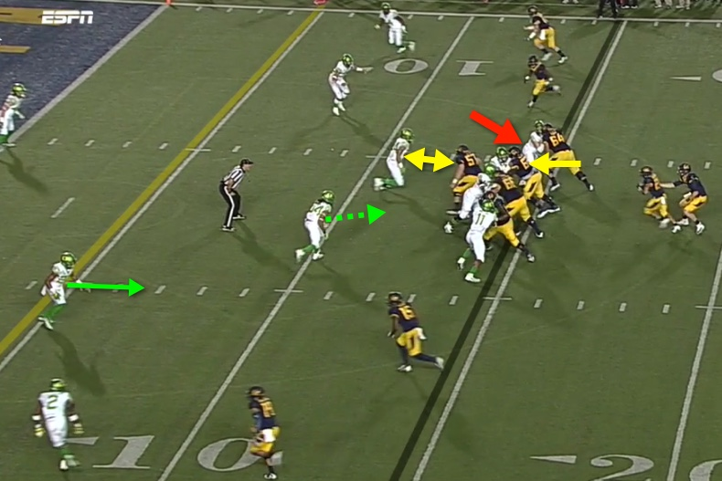 Is Simms going to attack the correct shoulder of the center?