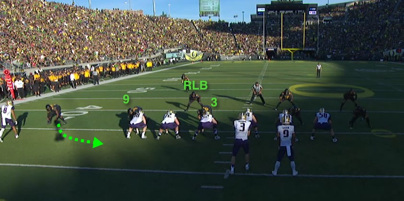 Oregon's defense is lined up correctly.
