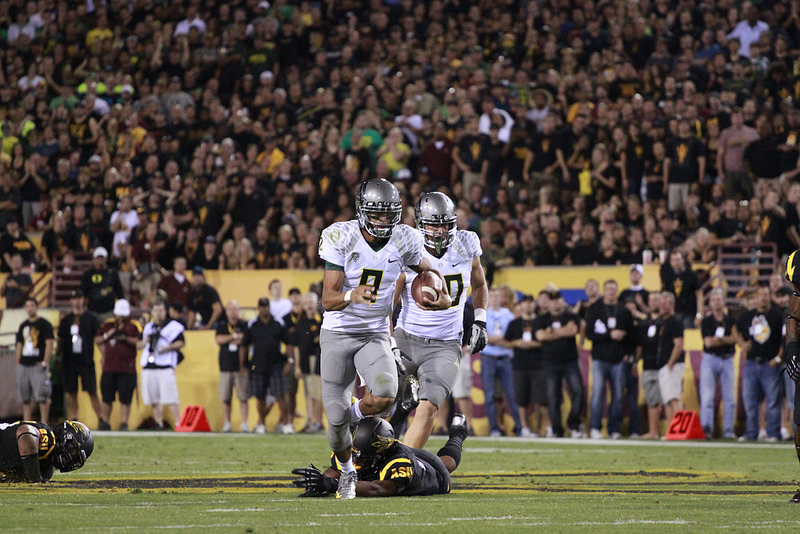 Marcus Mariota's run against ASU in 2012 was an all-time highlight.