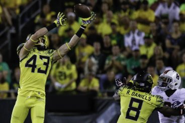 True Freshman safety Brenden Schooler has shown a nose for the ball during his first season in Eugene.