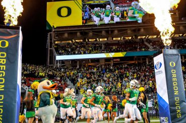 The Oregon Ducks and fans