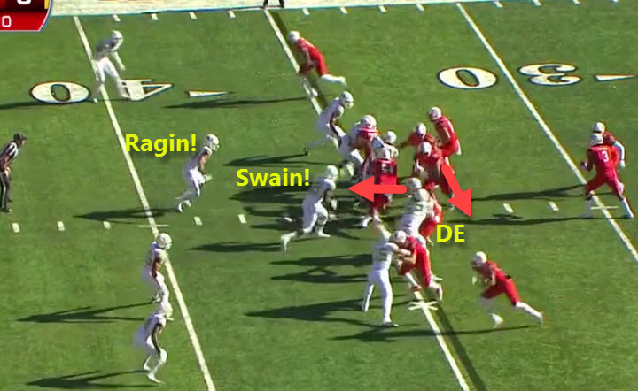 Swain on the attack!