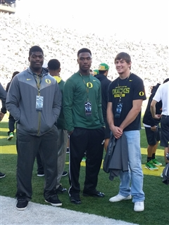 L to R: Rasheem Green, John Houston, Jr. and Tevis Bartlett each enjoyed their trip in Eugene in 2015 but chose USC, USC and Washington, respectively.