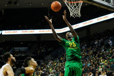 Chris Boucher was the star of the Block Party scrimmage.