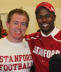 Running back Toby Gerhart and Willie Taggart at Stanford.