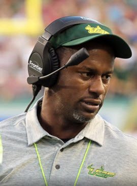 Willie Taggart listens...