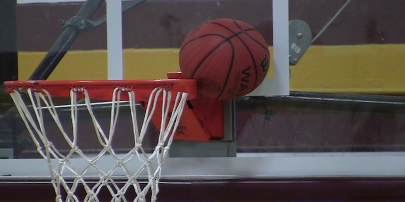 Basketball Stuck In Rim