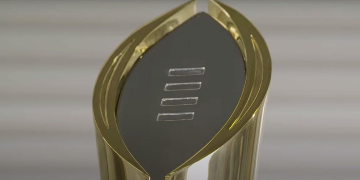 Image of CFP National Championship Trophy.
