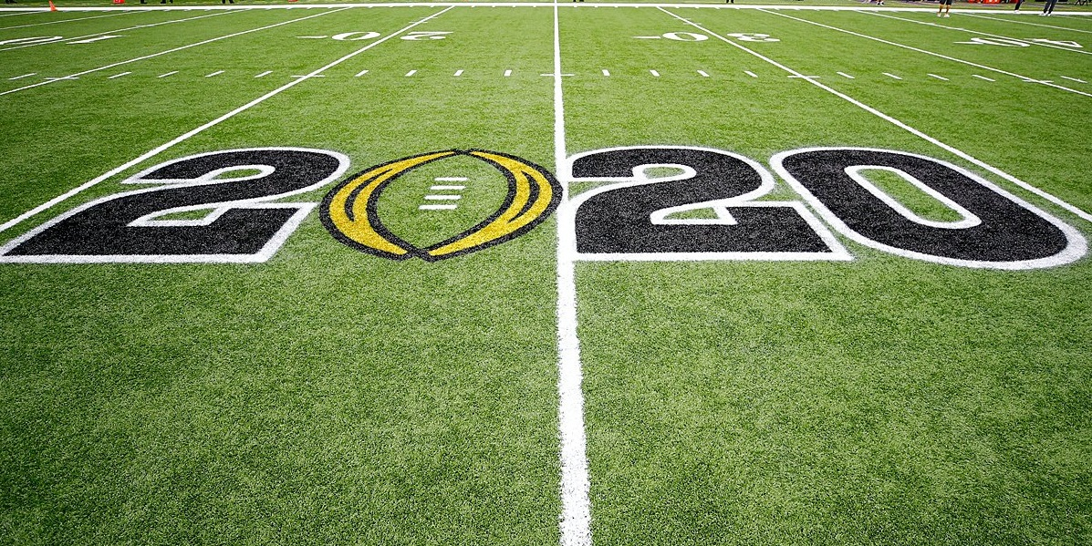 Image of the 2020 CFP logo on a grass field.